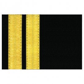 V:ONE 2 Bar Gold Epaulettes - Full Length Board