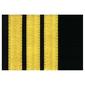 V:ONE 3 Bar Gold Epaulettes - Full Length Board