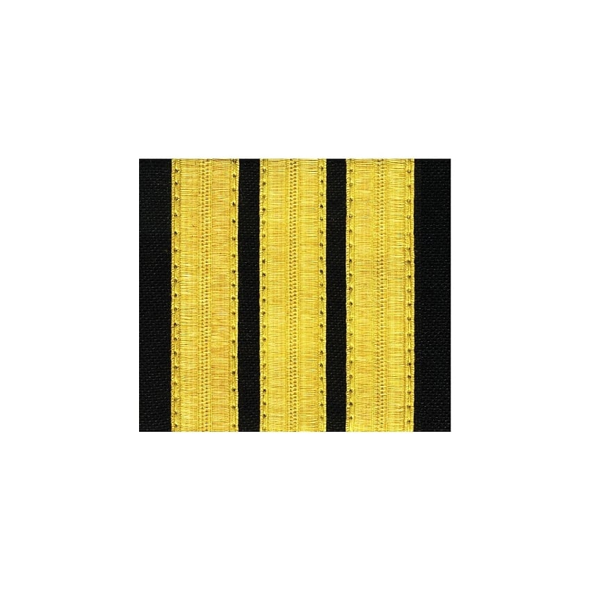 3 Bar Gold Epaulettes - Standard Board (Pair)