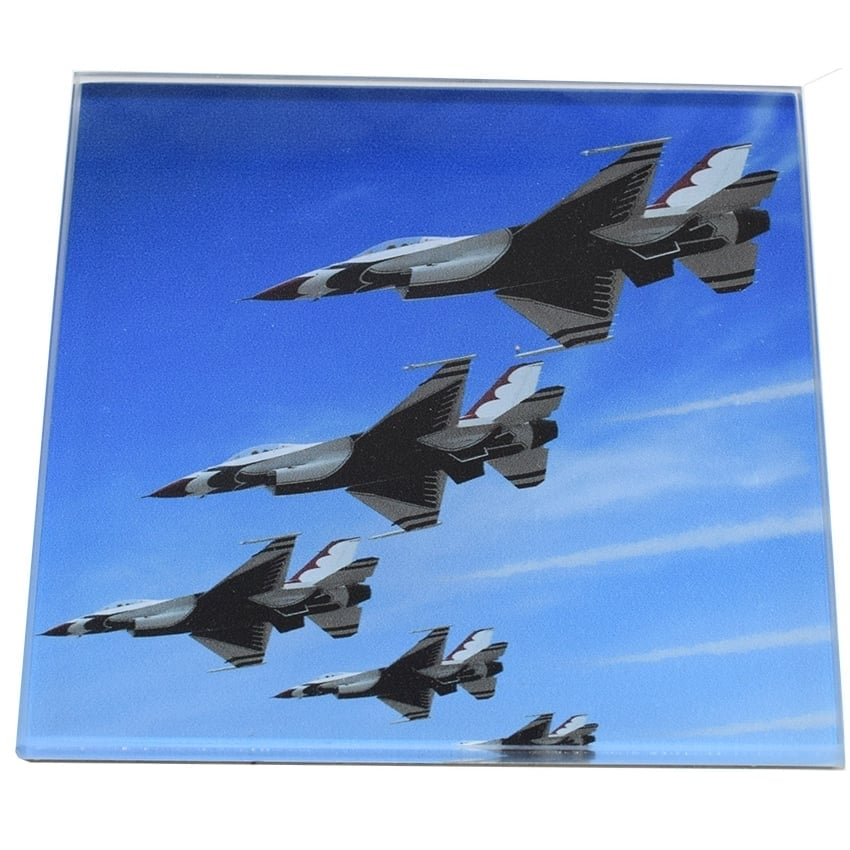 5 Aircraft Display Glass Coaster Single in Box