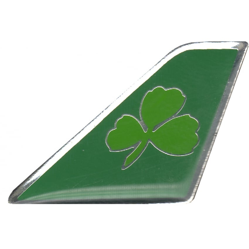 Aer Lingus Shamrock Tail Pin Badge