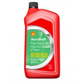 Shell Aviation Aeroshell W100 Plus Aircraft Engine Oil