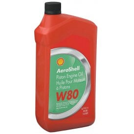Shell Aviation Aeroshell W80 Aircraft Engine Oil