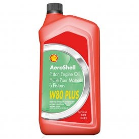 Shell Aviation Aeroshell W80 Plus Aircraft Engine Oil