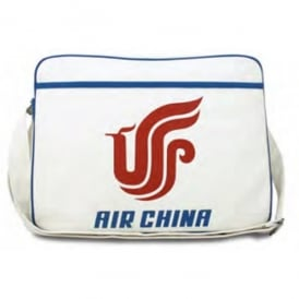 LogoBags Air China Canvas Airline Travel Bag in White