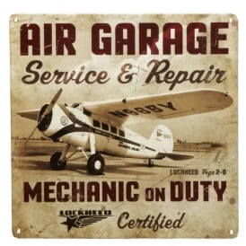 Air Garage Repair Tin Aviation Sign