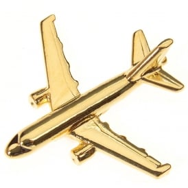 Airbus A319 Boxed Pin - Gold