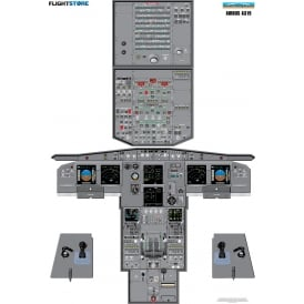 JetPubs Airbus A319 Cockpit Panel Poster