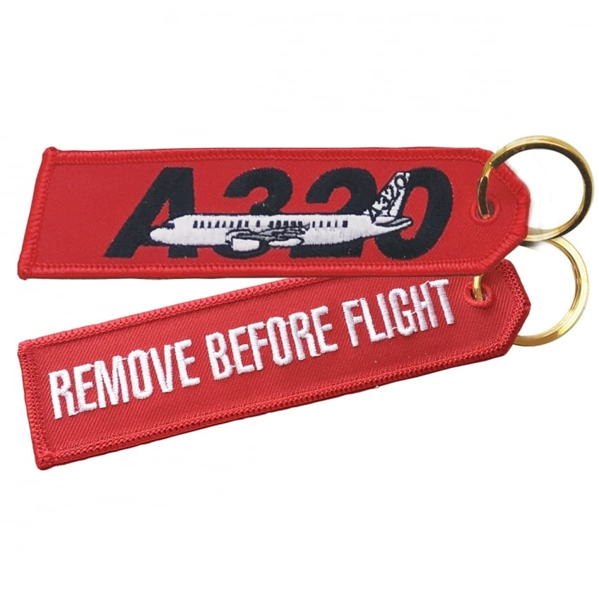 Airbus A320 RBF Embroidered Keyring