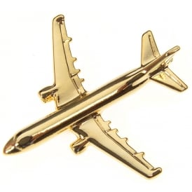 Airbus A321 Boxed Pin - Gold