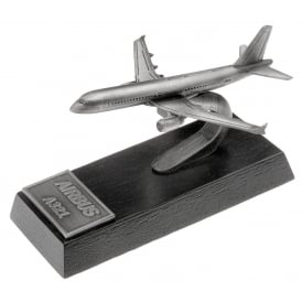 Clivedon Airbus A321 Desk Model - Pewter