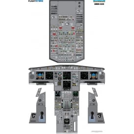 ATG Airbus A330 Airliner Cockpit Poster