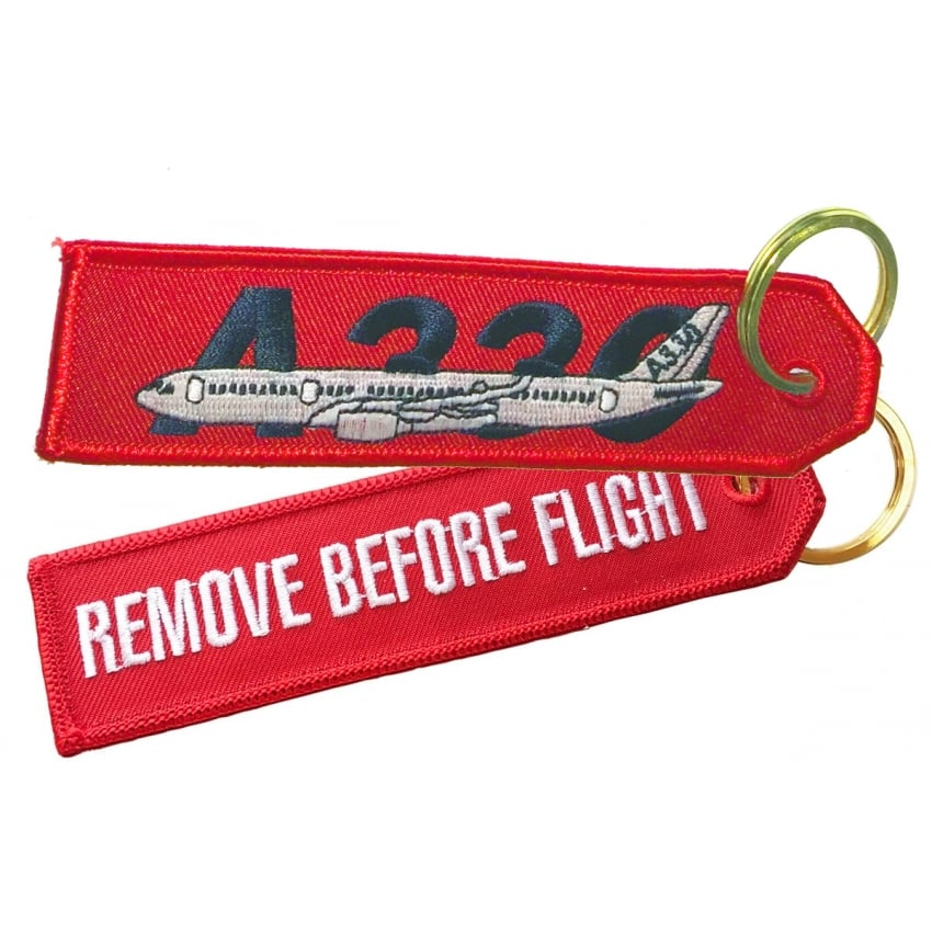 Airbus A330 RBF Embroidered Keyring
