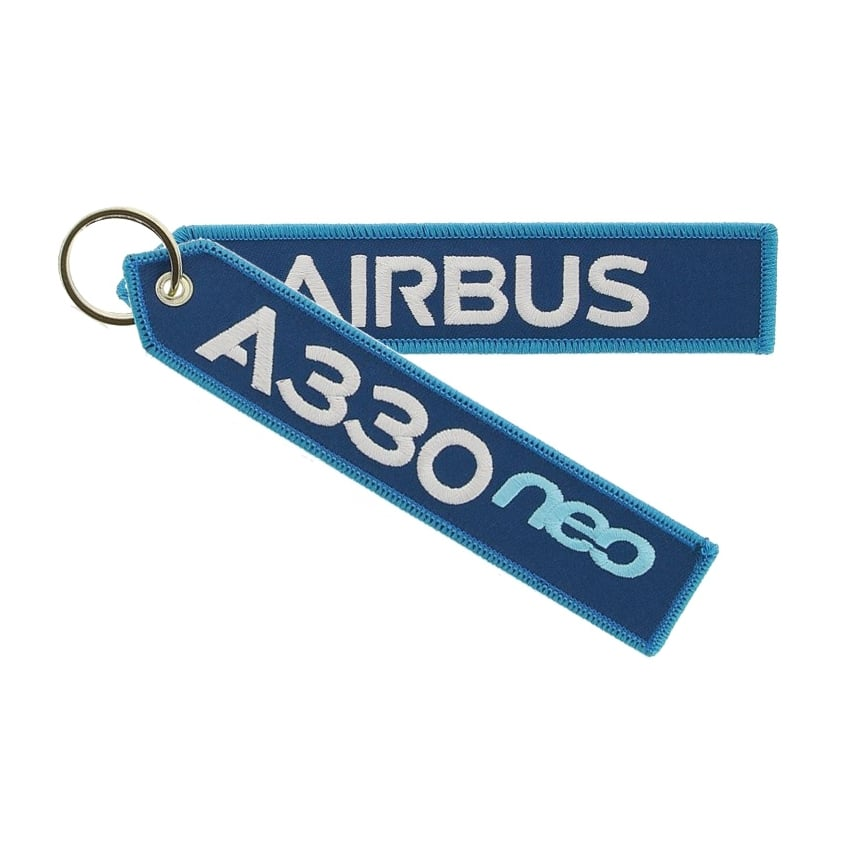 A330neo Embroidered Keyring