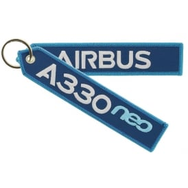 Airbus A330neo Embroidered Keyring