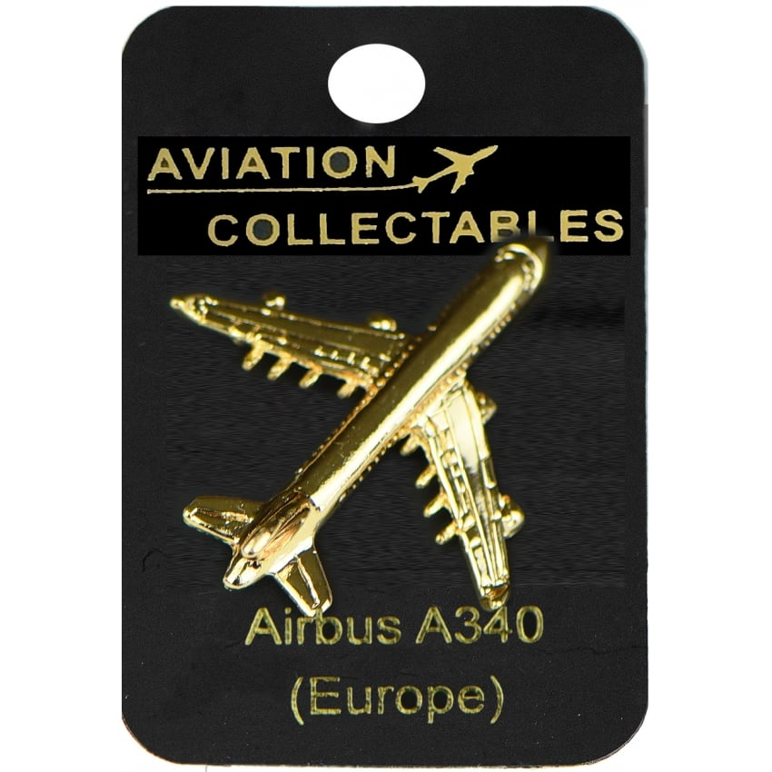 Airbus A340 Gold Pin Badge