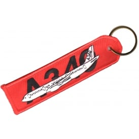 Airbus A340 RBF Embroidered Keyring