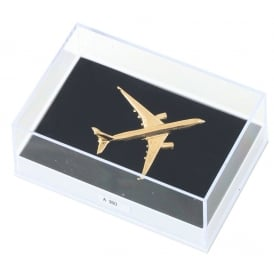 Airbus A350 Boxed Pin - Gold
