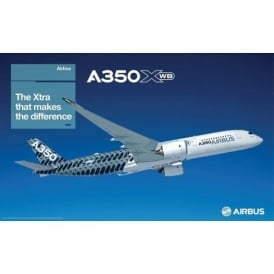 Airbus A350 XWB Carbon Livery Poster