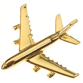 Airbus A380 Boxed Pin - Gold