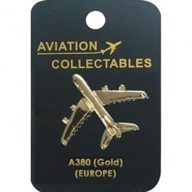 Airbus A380 Gold Pin Badge