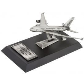 Clivedon Airbus A380 Large Desk Model - Pewter
