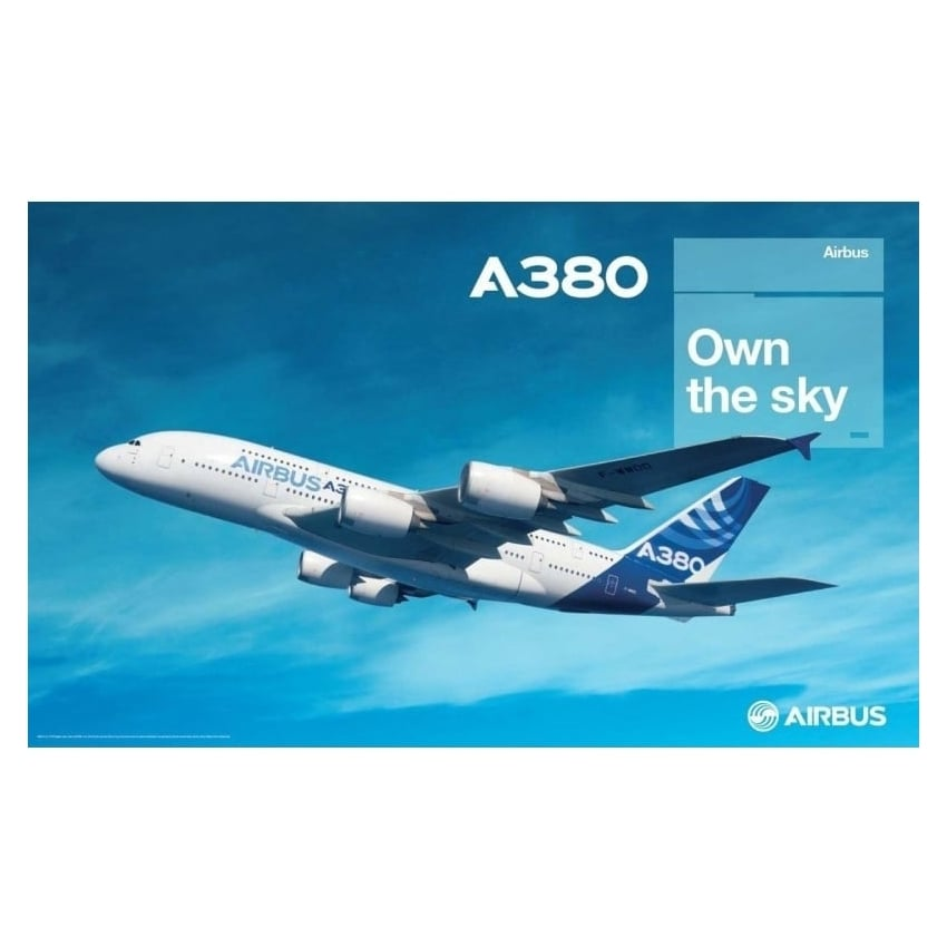 A380 Own The Sky Poster
