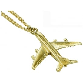 Airbus A380 Pendant Necklace - Gold