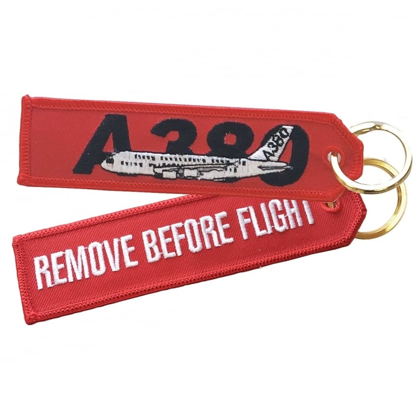 Airbus A380 RBF Embroidered Keyring