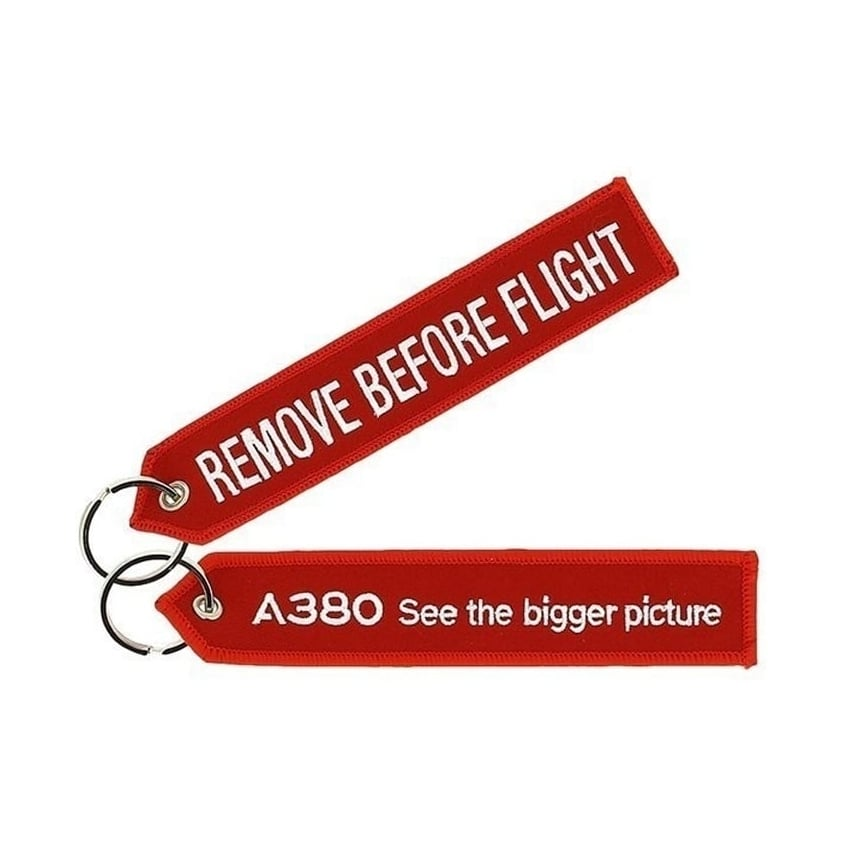 A380 Red Remove Before Flight Keyring