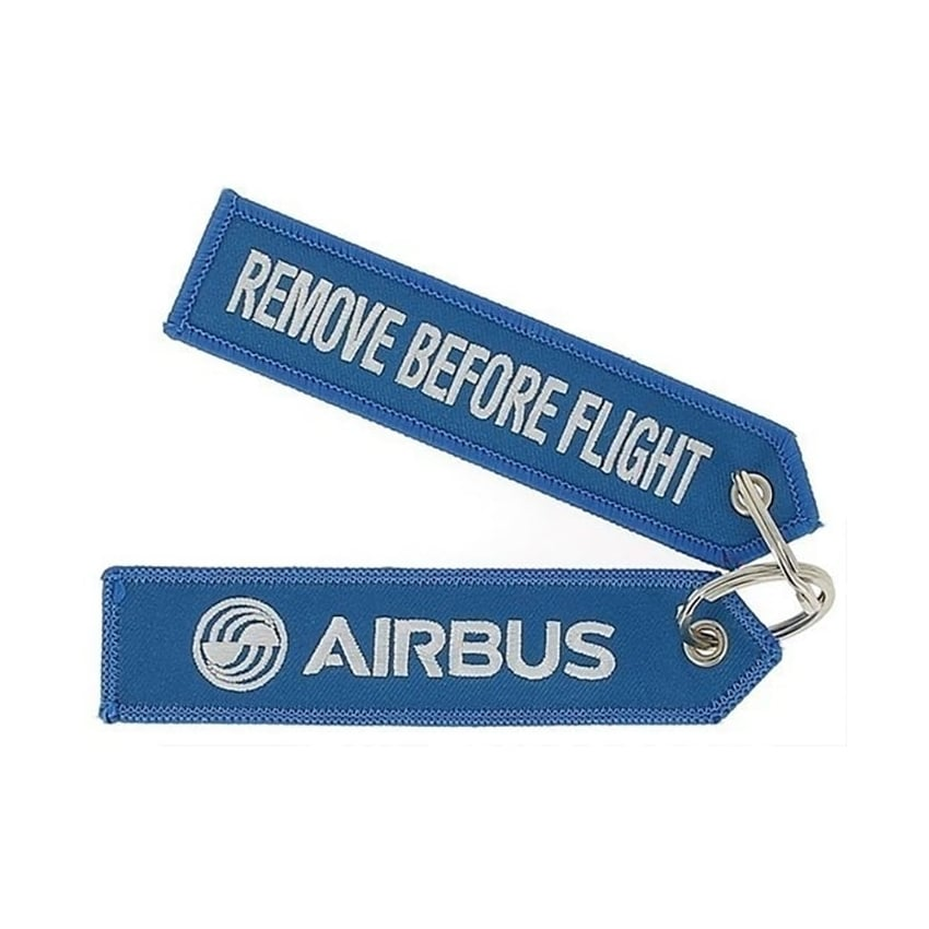 Blue Remove Before Flight Keyring