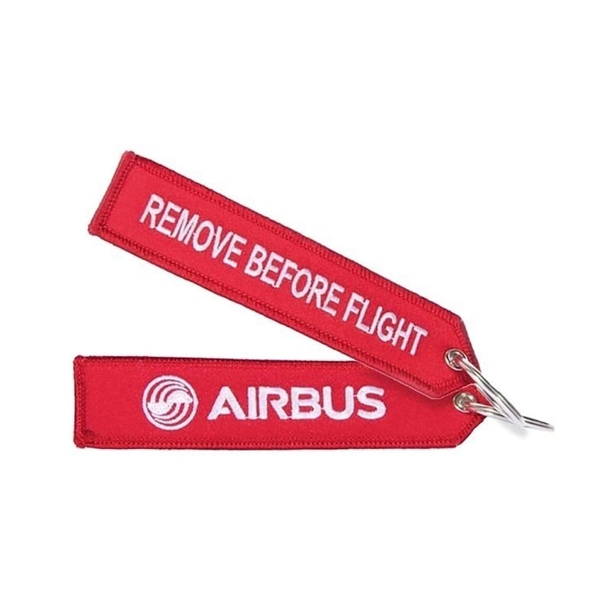 Airbus Red Remove Before Flight Keyring