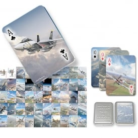 Aircraft Legends Playing Cards in Tin Box