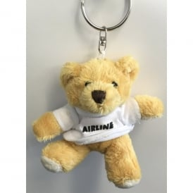 Airline Pilot Keyring Teddy Bear