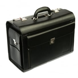 Airline Pilots Leather Flight Case