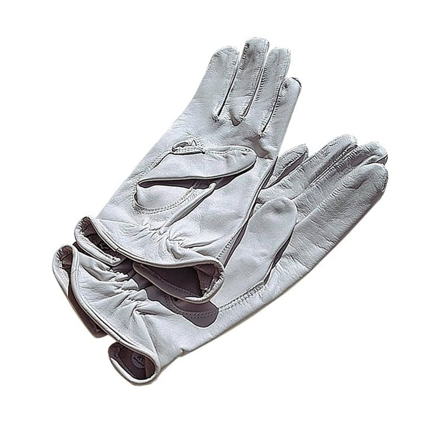 Airman White Leather Flying Gloves - Slight Seconds