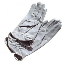 V:ONE Airman White Leather Flying Gloves - Slight Seconds
