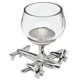 Airplane Base Round Shot Glass