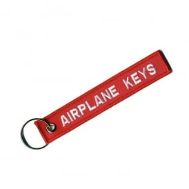 Airplane Keys Embroidered Keyring