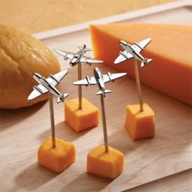 Airplane Serving Picks x 4