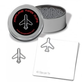 Airplane Silver Paper Clips