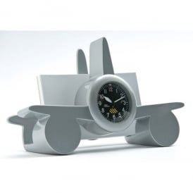 Airplane with Clock Business Card Holder