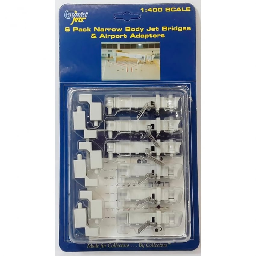 Airport 6 Narrow Body Jet Bridges 1:400 Scale Accessory Set