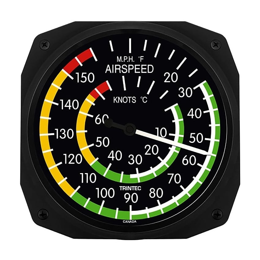 "Airspeed 10"" New Style Instrument Clock"