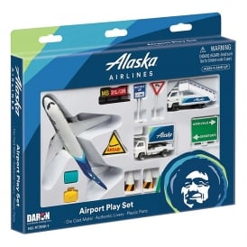 Gifts For Aviators Alaska Airlines 12 Piece Model Play Set