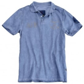 Alpha AIN Polo Shirt - Wash Blue