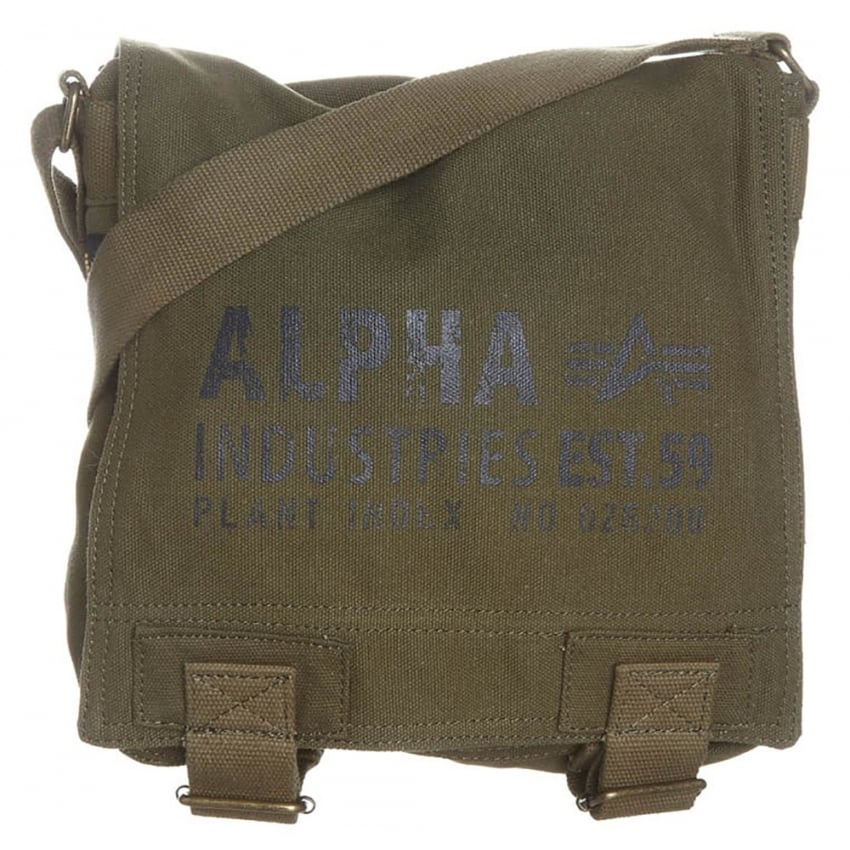Alpha Cargo Canvas Utility Bag in Olive