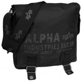 Alpha Cargo Oxford Utility Bag in Black