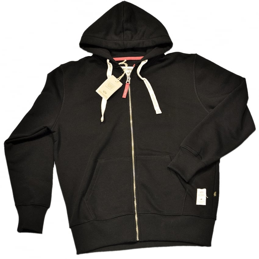 Alpha Easy Zip Hoody - Black