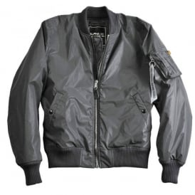 Alpha Industries Alpha MA-1 Reflective Jacket - Charcoal
